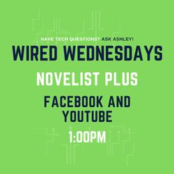 Wired Wednesdays Live : Novelist Plus (Virtual Branch) (Video)