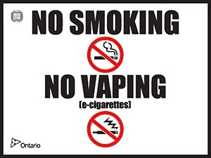 """No smoking"" and ""No Vaping"" Signs Now Available"