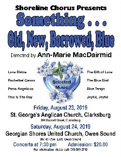 Shoreline Chorus presents 'Something ... Old, New, Borrowed, Blue'