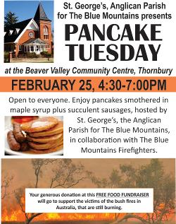 Pancake Tuesday - February 25th 4:30-7:00