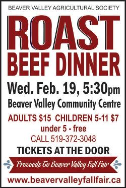 Roast Beef Dinner - Wednesday, February 19